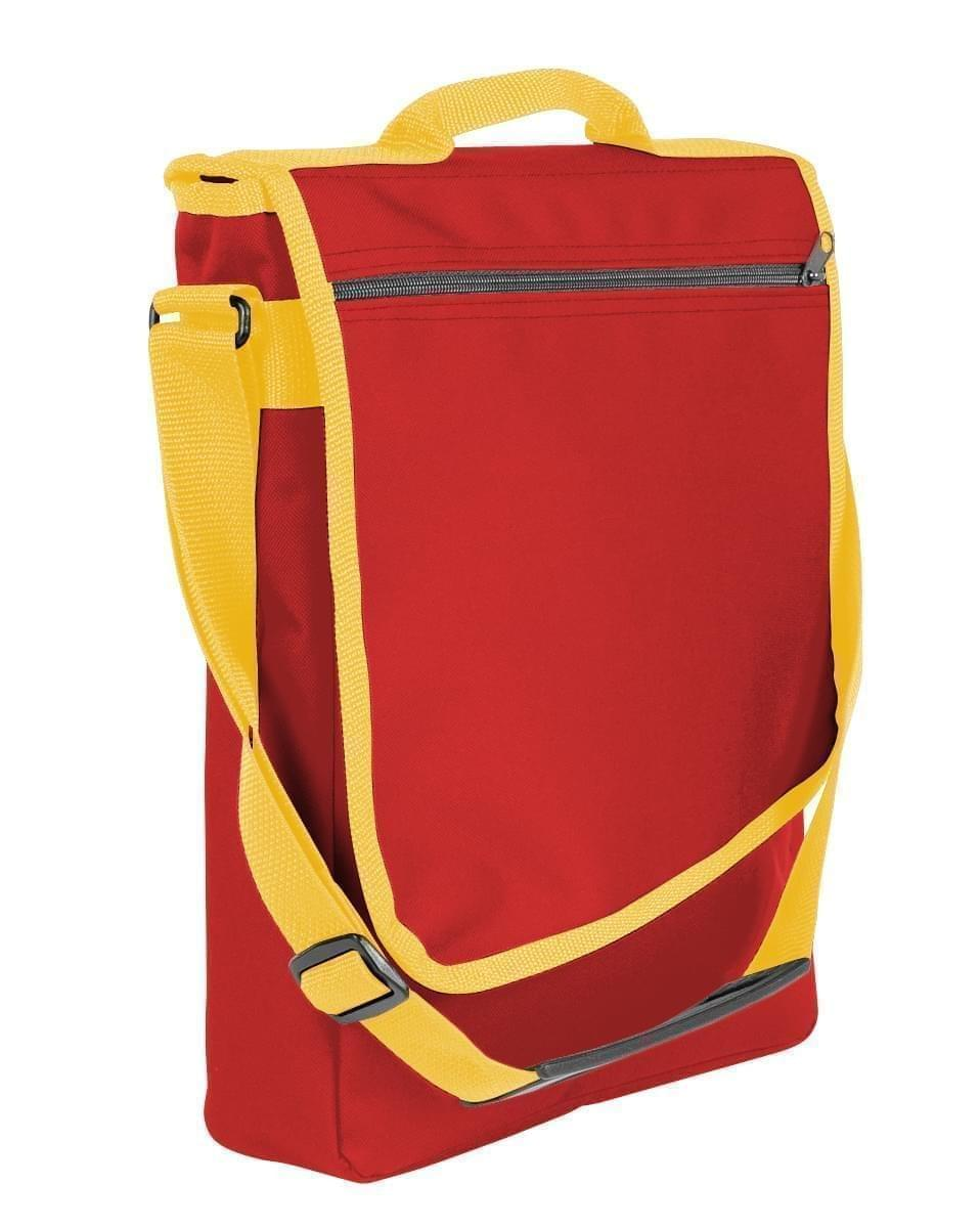 USA Made Nylon Poly Laptop Bags, Red-Gold, LHCBA29AZ5
