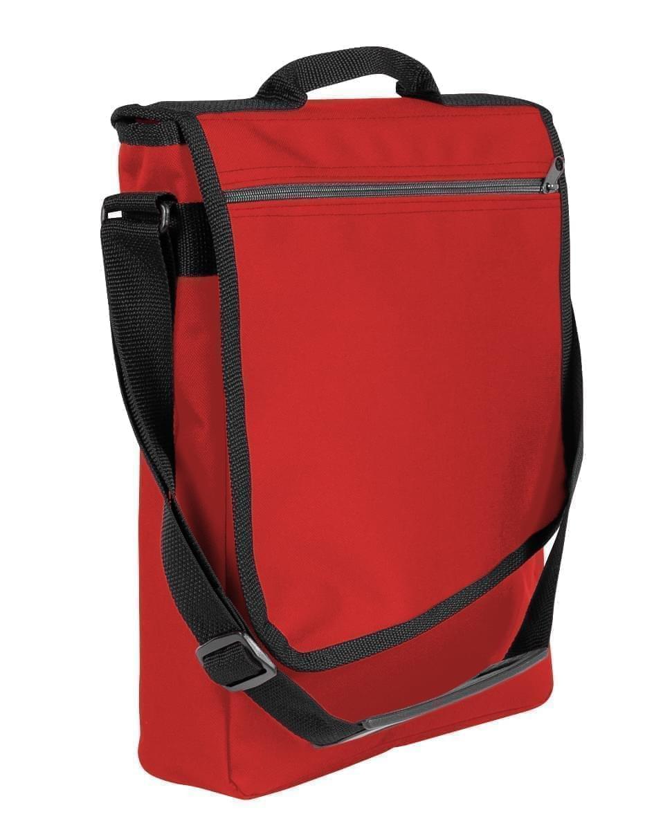 USA Made Nylon Poly Laptop Bags, Red-Black, LHCBA29AZR