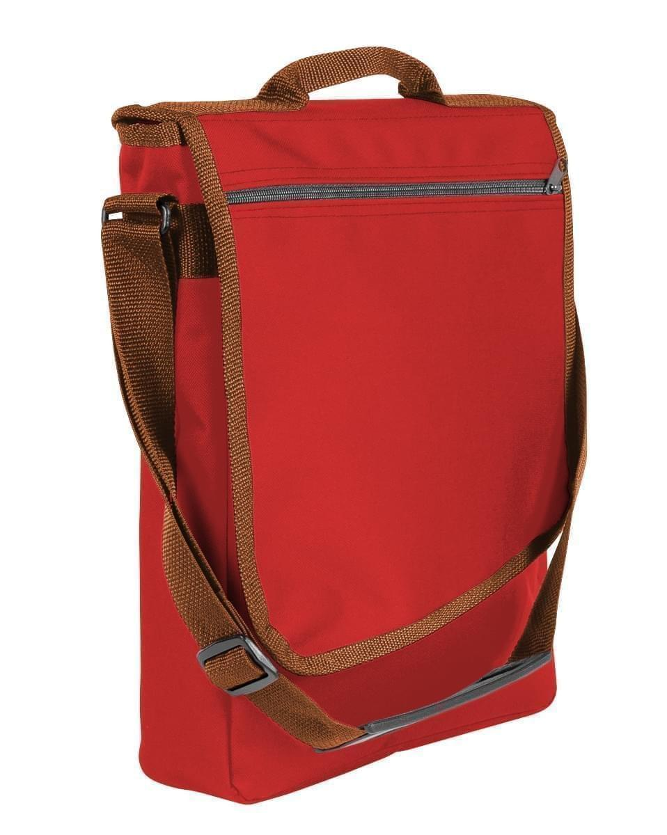 USA Made Nylon Poly Laptop Bags, Red-Brown, LHCBA29AZS