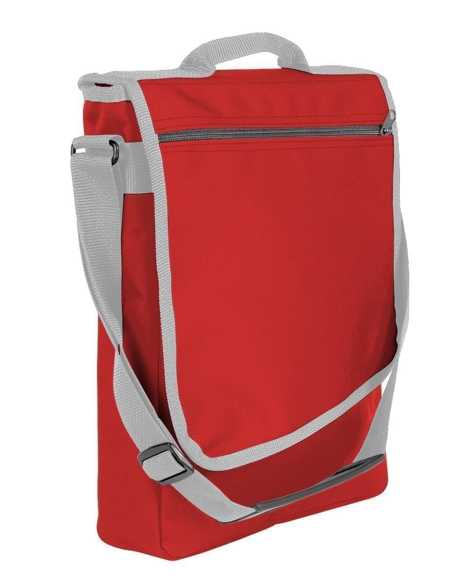 USA Made Nylon Poly Laptop Bags, Red-Grey, LHCBA29AZU
