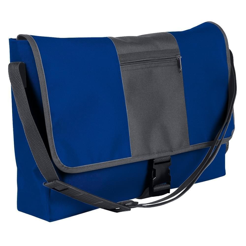 USA Made Nylon Poly Dad Shoulder Bags, Royal Blue-Graphite, OHEDA19A0F