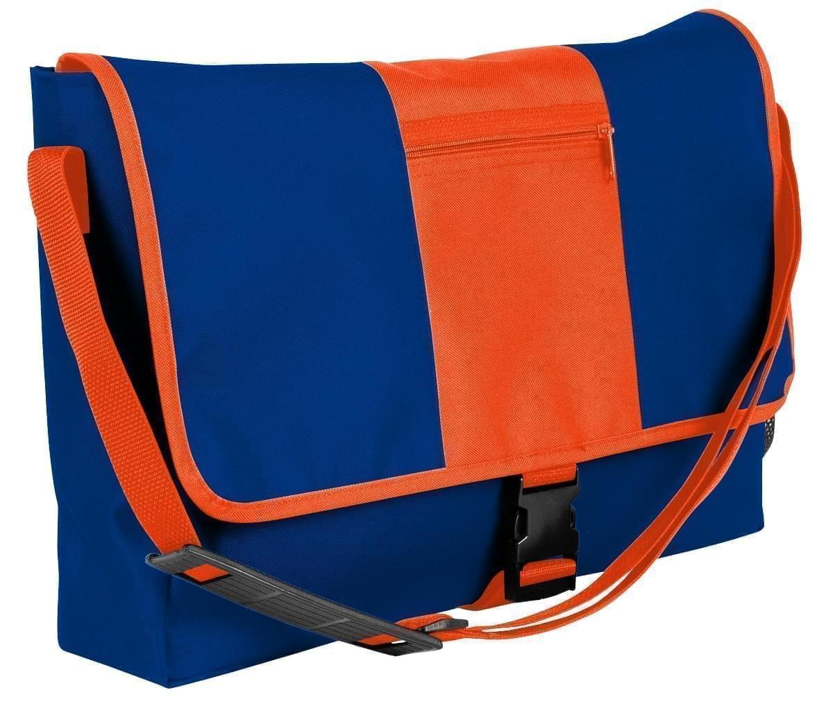 USA Made Nylon Poly Dad Shoulder Bags, Royal Blue-Orange, OHEDA19A0J