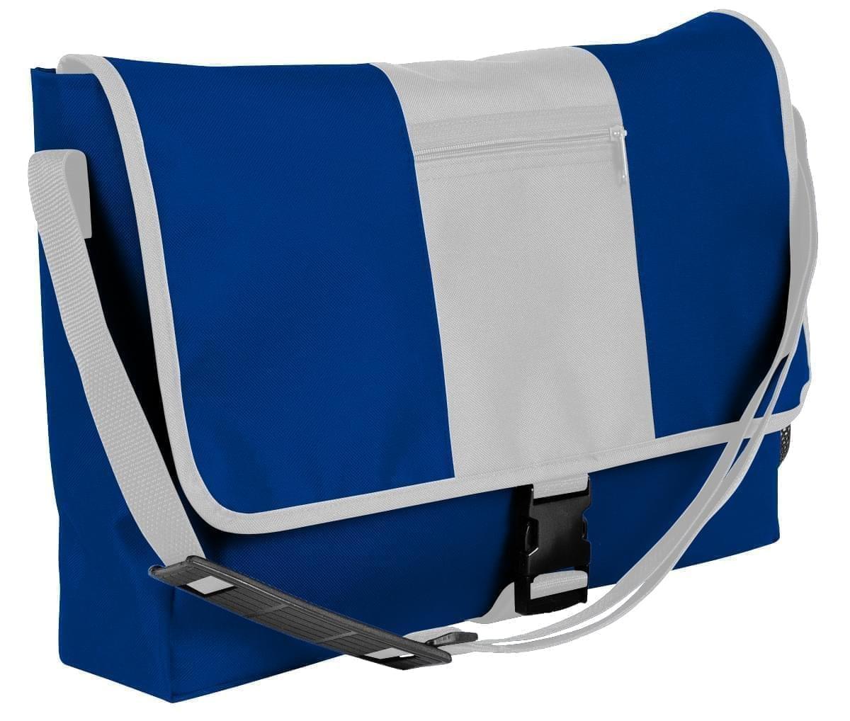 USA Made Nylon Poly Dad Shoulder Bags, Royal Blue-White, OHEDA19A0P