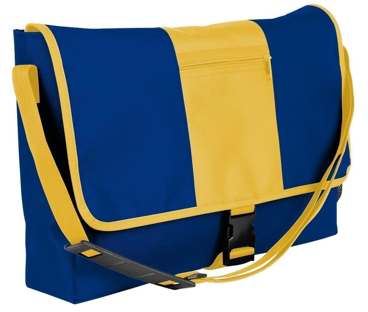 USA Made Nylon Poly Dad Shoulder Bags, Royal Blue-Gold, OHEDA19A0Q