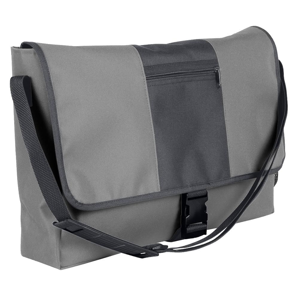 USA Made Nylon Poly Dad Shoulder Bags, Grey-Graphite, OHEDA19A1F
