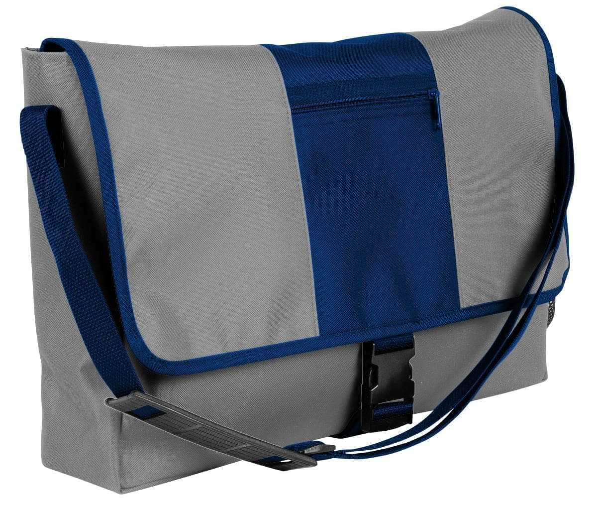 USA Made Nylon Poly Dad Shoulder Bags, Grey-Navy, OHEDA19A1I