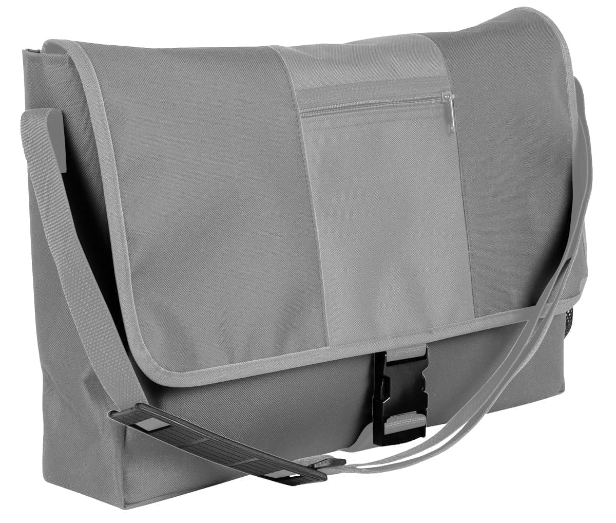 USA Made Nylon Poly Dad Shoulder Bags, Grey-Grey, OHEDA19A1N