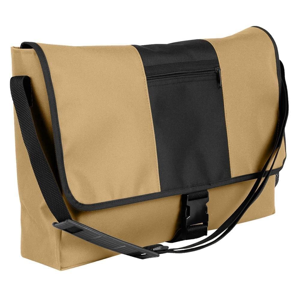 USA Made Nylon Poly Dad Shoulder Bags, Khaki-Black, OHEDA19A2C