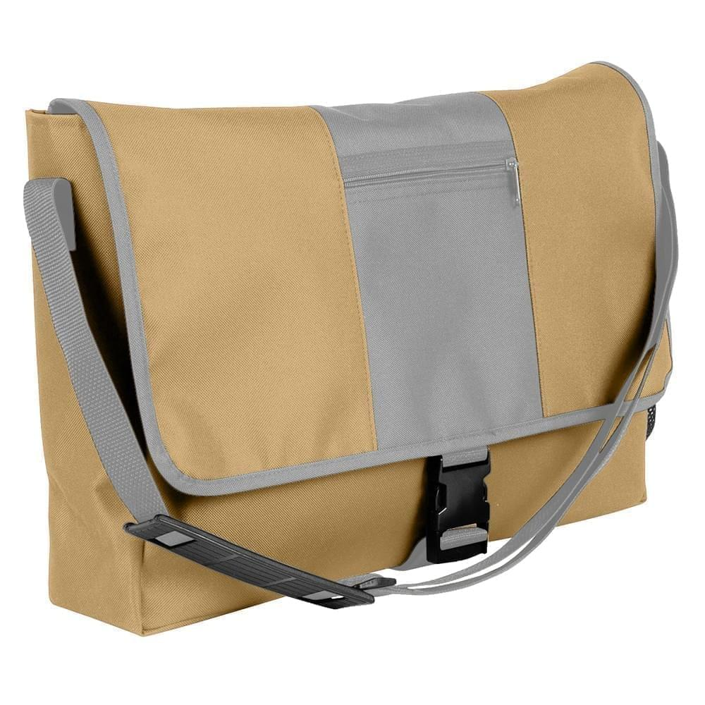 USA Made Nylon Poly Dad Shoulder Bags, Khaki-Grey, OHEDA19A2N