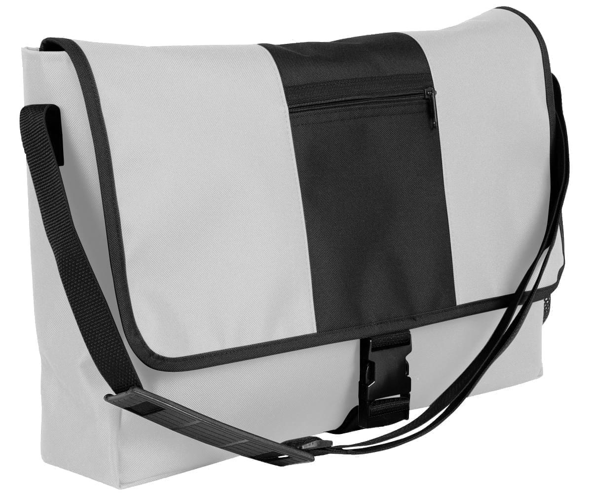USA Made Nylon Poly Dad Shoulder Bags, White-Black, OHEDA19A3C