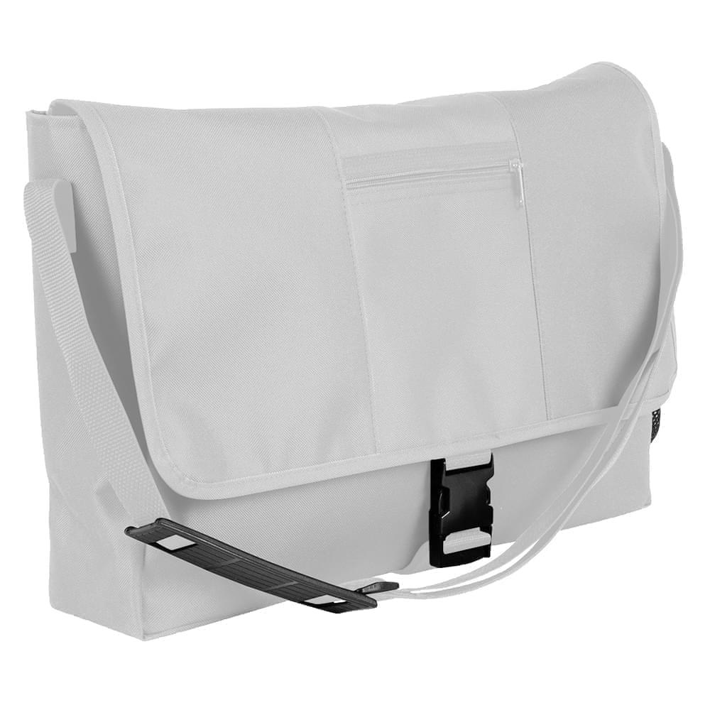 USA Made Nylon Poly Dad Shoulder Bags, White-White, OHEDA19A3P