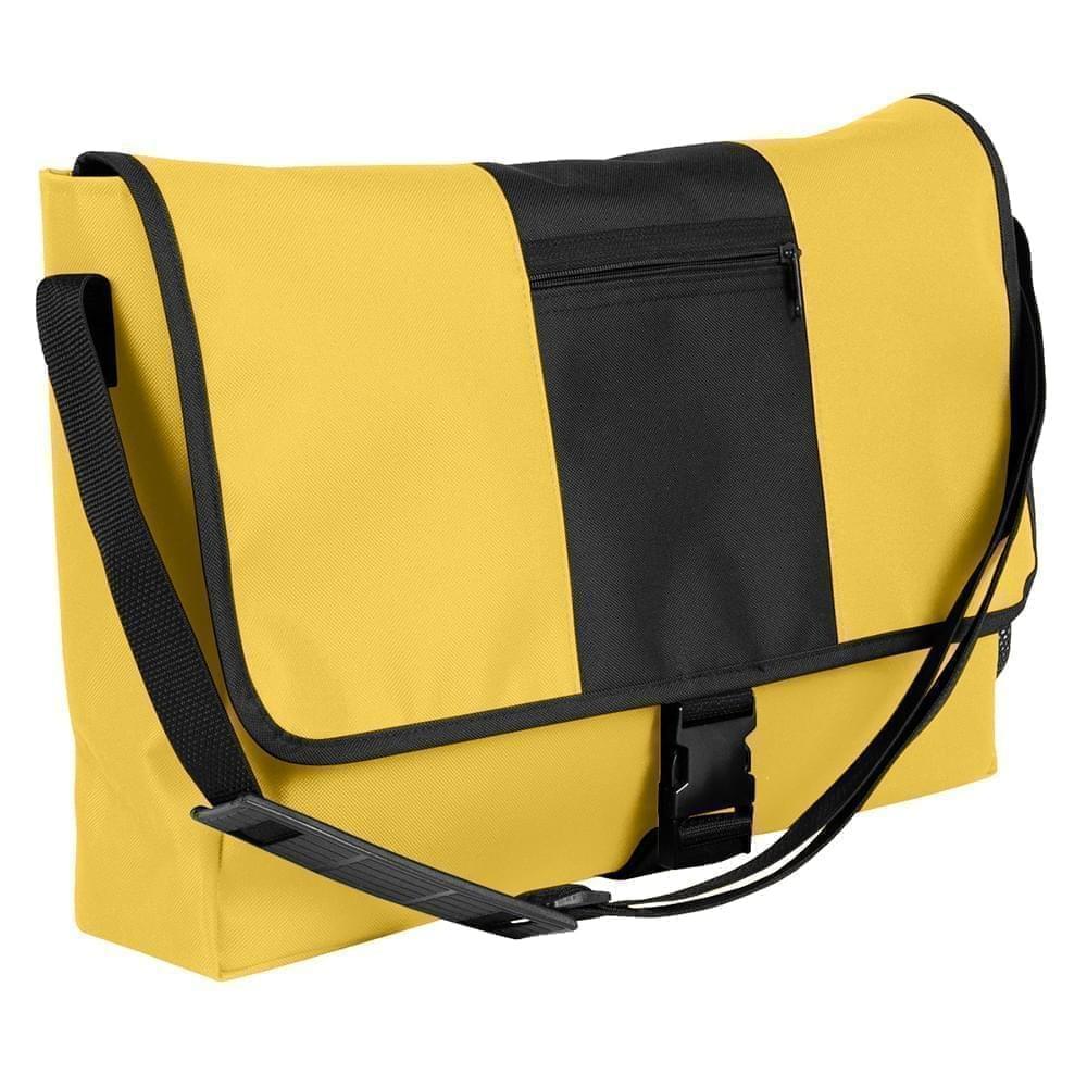 USA Made Nylon Poly Dad Shoulder Bags, Gold-Black, OHEDA19A4C