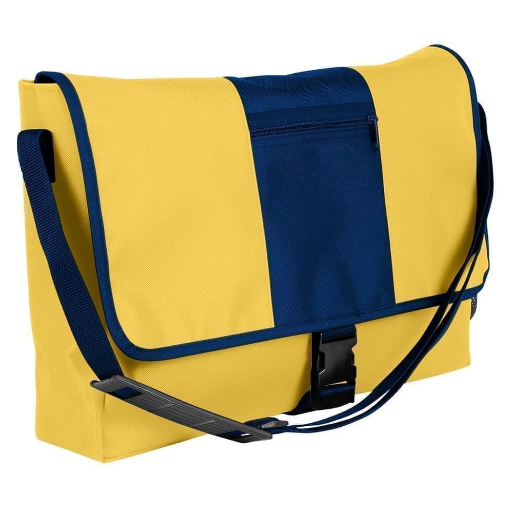 USA Made Nylon Poly Dad Shoulder Bags, Gold-Navy, OHEDA19A4I