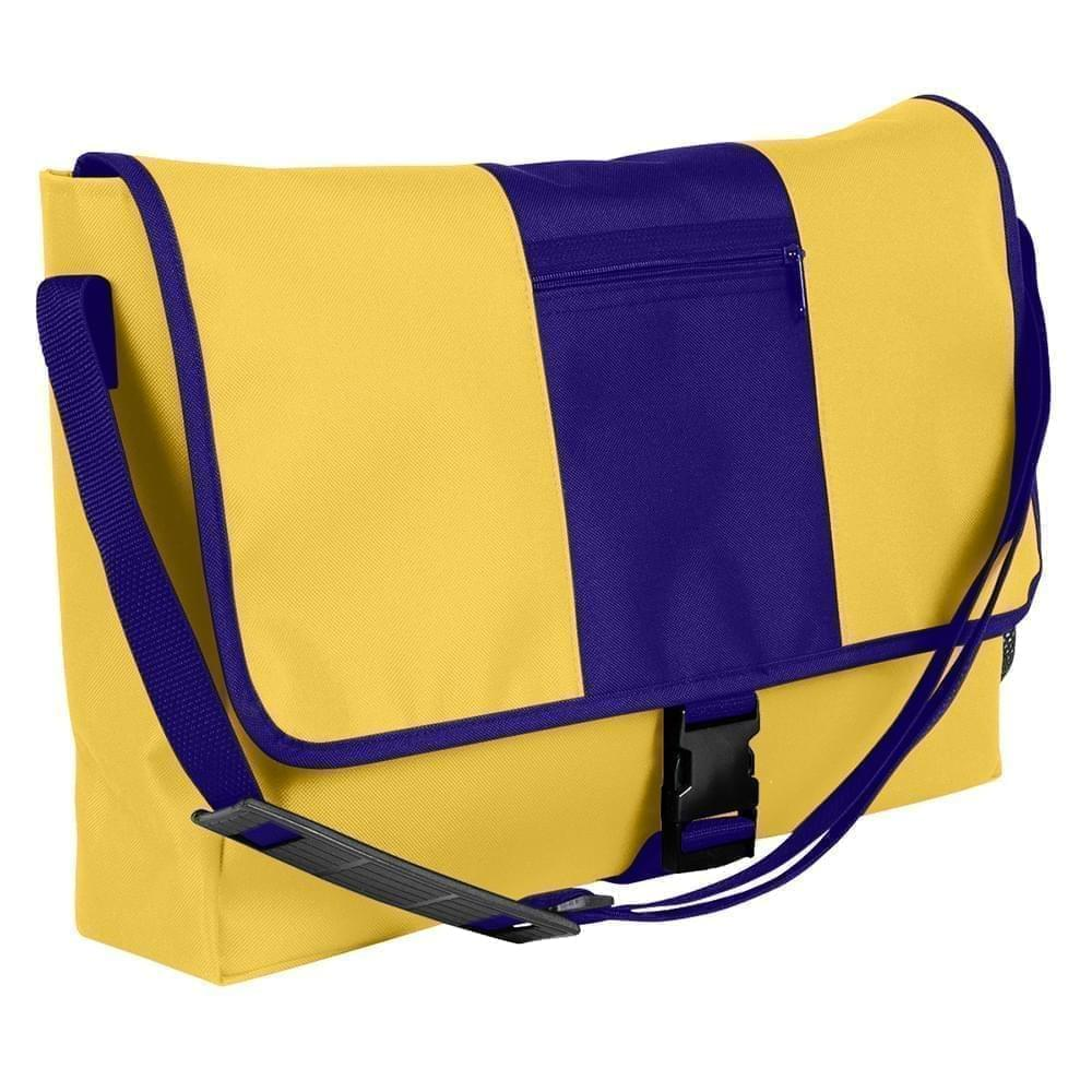 USA Made Nylon Poly Dad Shoulder Bags, Gold-Purple, OHEDA19A4K
