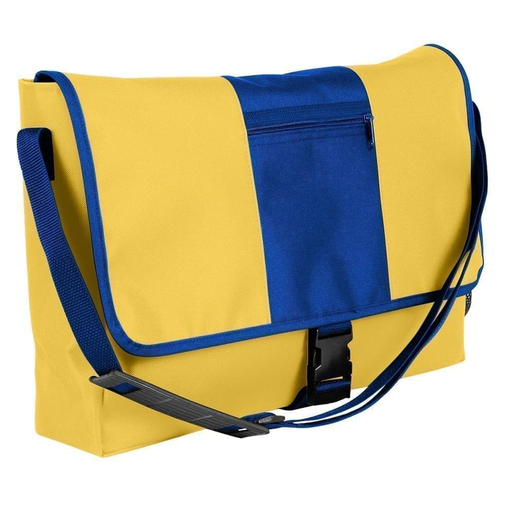 USA Made Nylon Poly Dad Shoulder Bags, Gold-Royal Blue, OHEDA19A4M