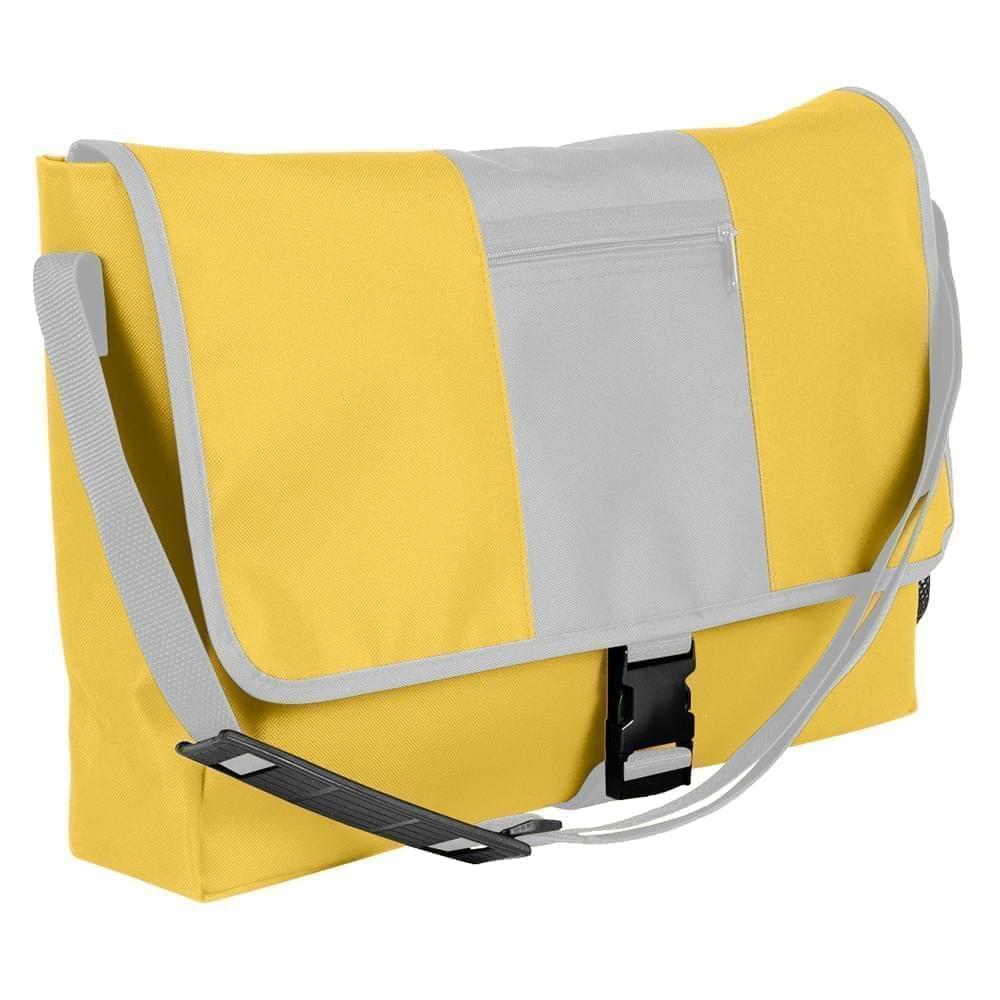 USA Made Nylon Poly Dad Shoulder Bags, Gold-White, OHEDA19A4P