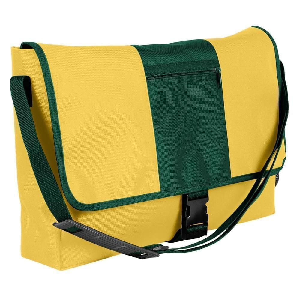 USA Made Nylon Poly Dad Shoulder Bags, Gold-Hunter Green, OHEDA19A4V