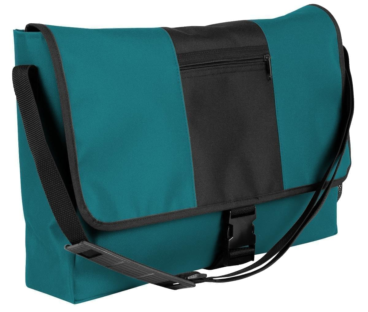 USA Made Nylon Poly Dad Shoulder Bags, Turquoise-Black, OHEDA19A9C