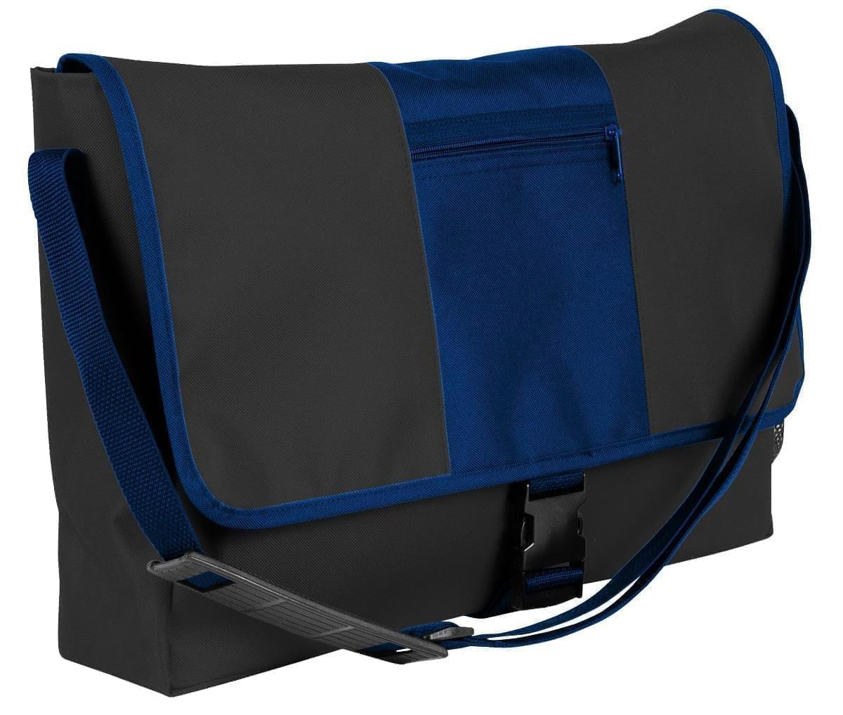 USA Made Nylon Poly Dad Shoulder Bags, Black-Navy, OHEDA19AOI