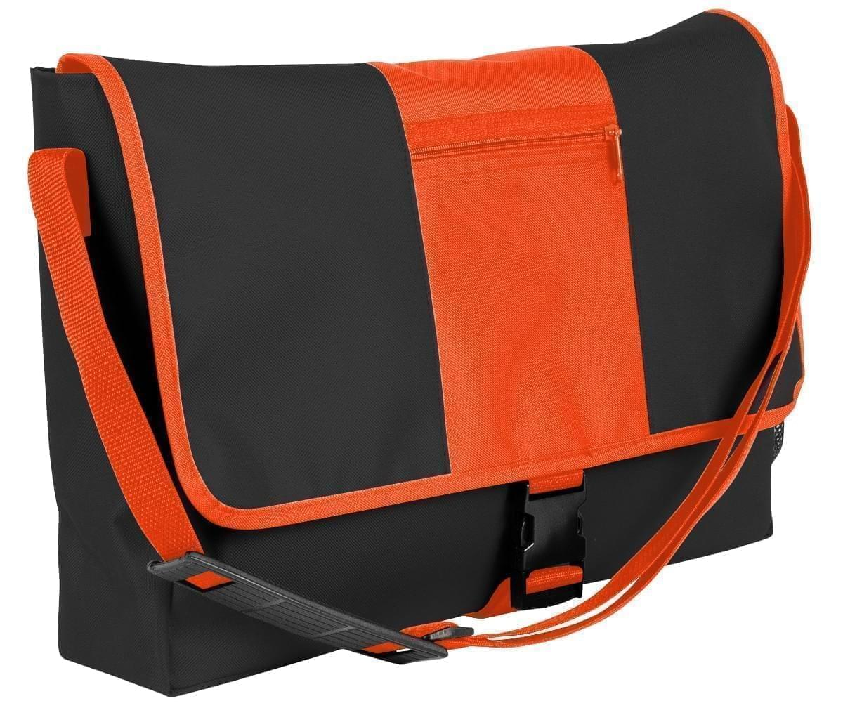 USA Made Nylon Poly Dad Shoulder Bags, Black-Orange, OHEDA19AOJ