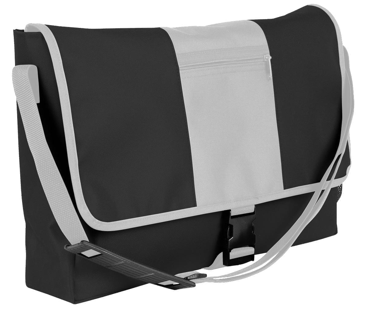 USA Made Nylon Poly Dad Shoulder Bags, Black-White, OHEDA19AOP