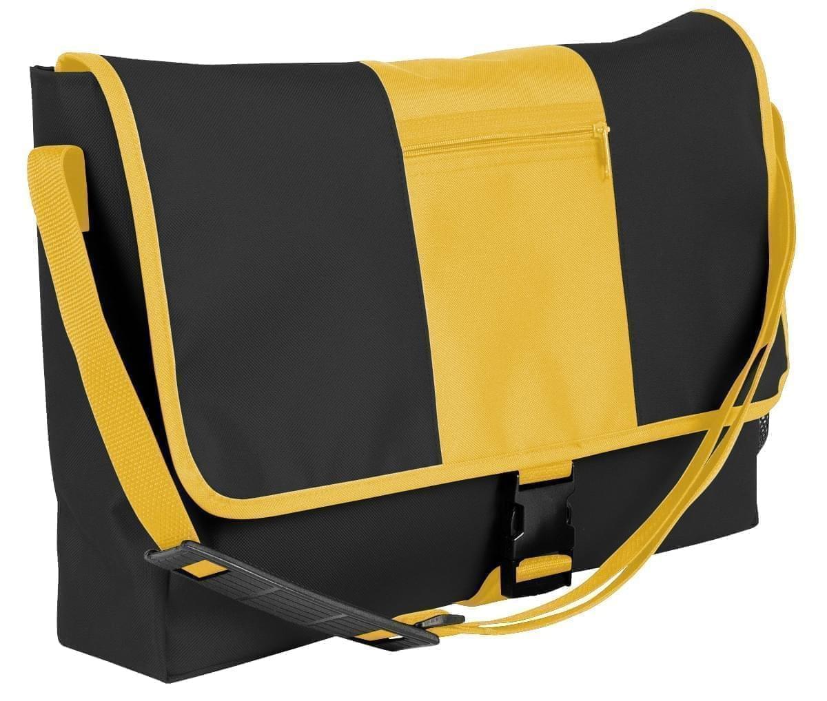 USA Made Nylon Poly Dad Shoulder Bags, Black-Gold, OHEDA19AOQ