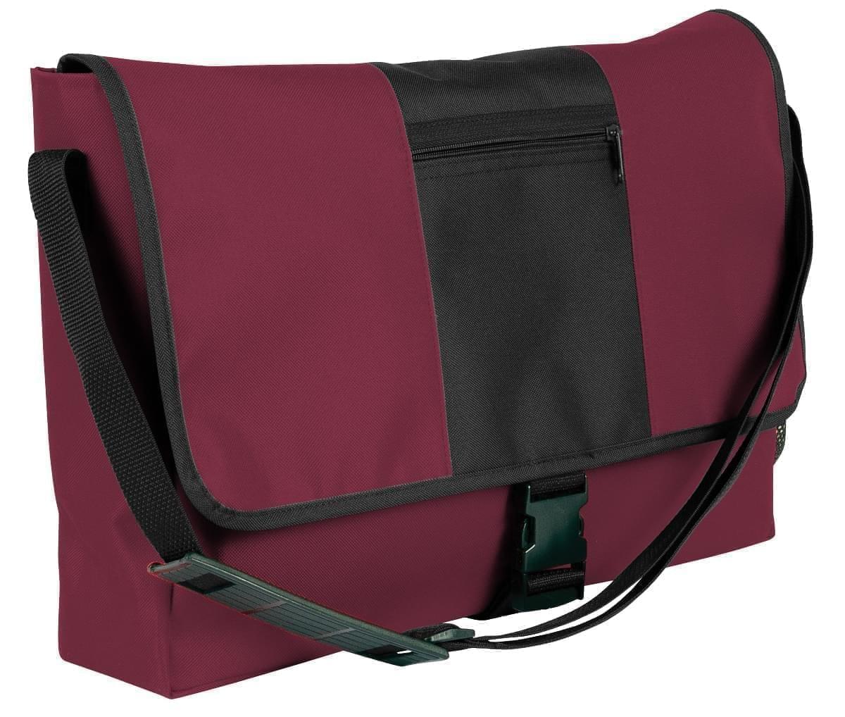 USA Made Nylon Poly Dad Shoulder Bags, Burgundy-Black, OHEDA19AQC