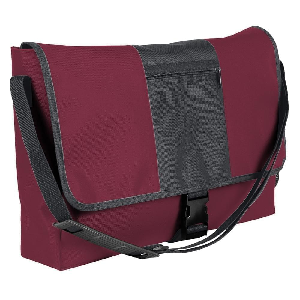 USA Made Nylon Poly Dad Shoulder Bags, Burgundy-Graphite, OHEDA19AQF
