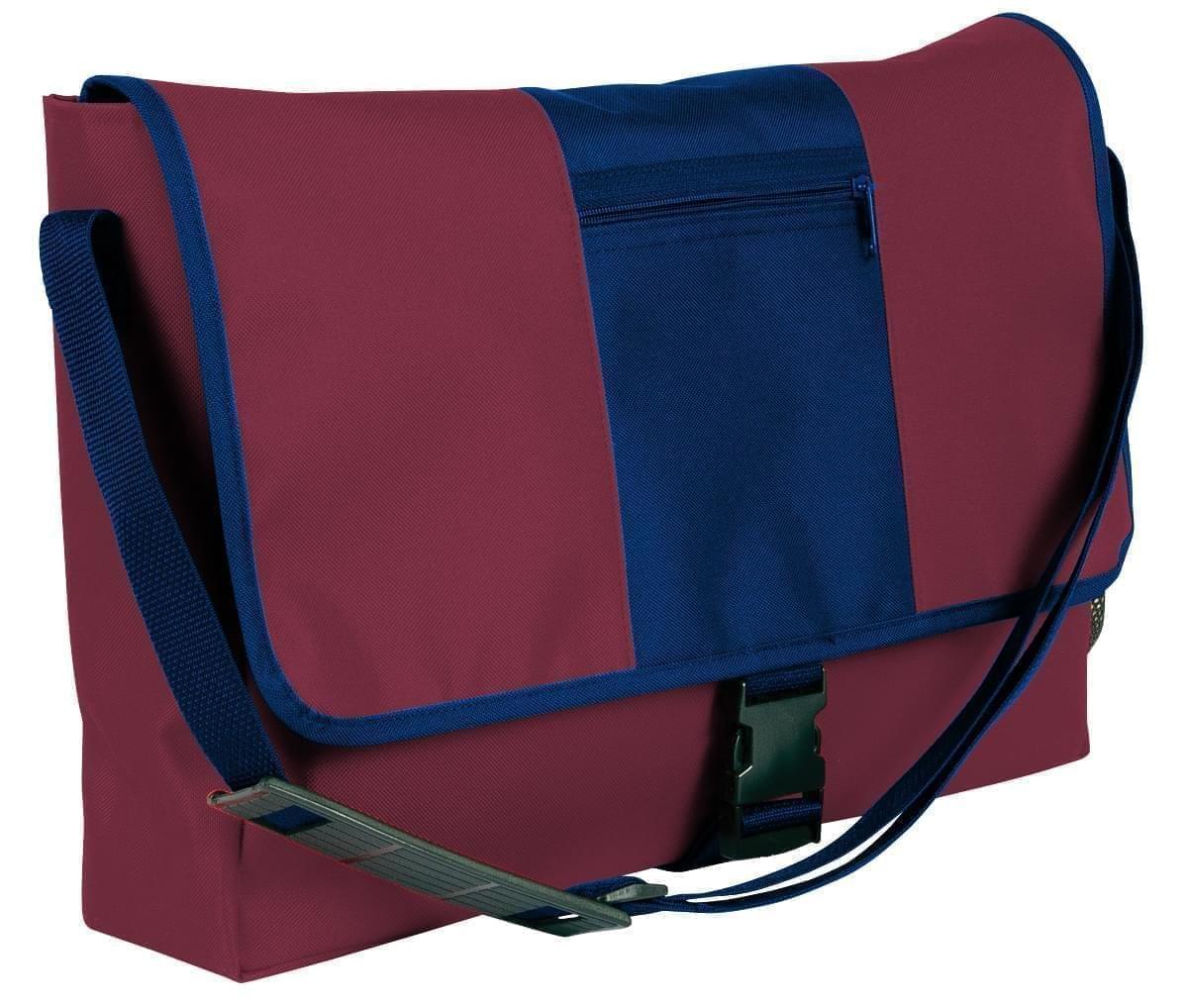 USA Made Nylon Poly Dad Shoulder Bags, Burgundy-Navy, OHEDA19AQI