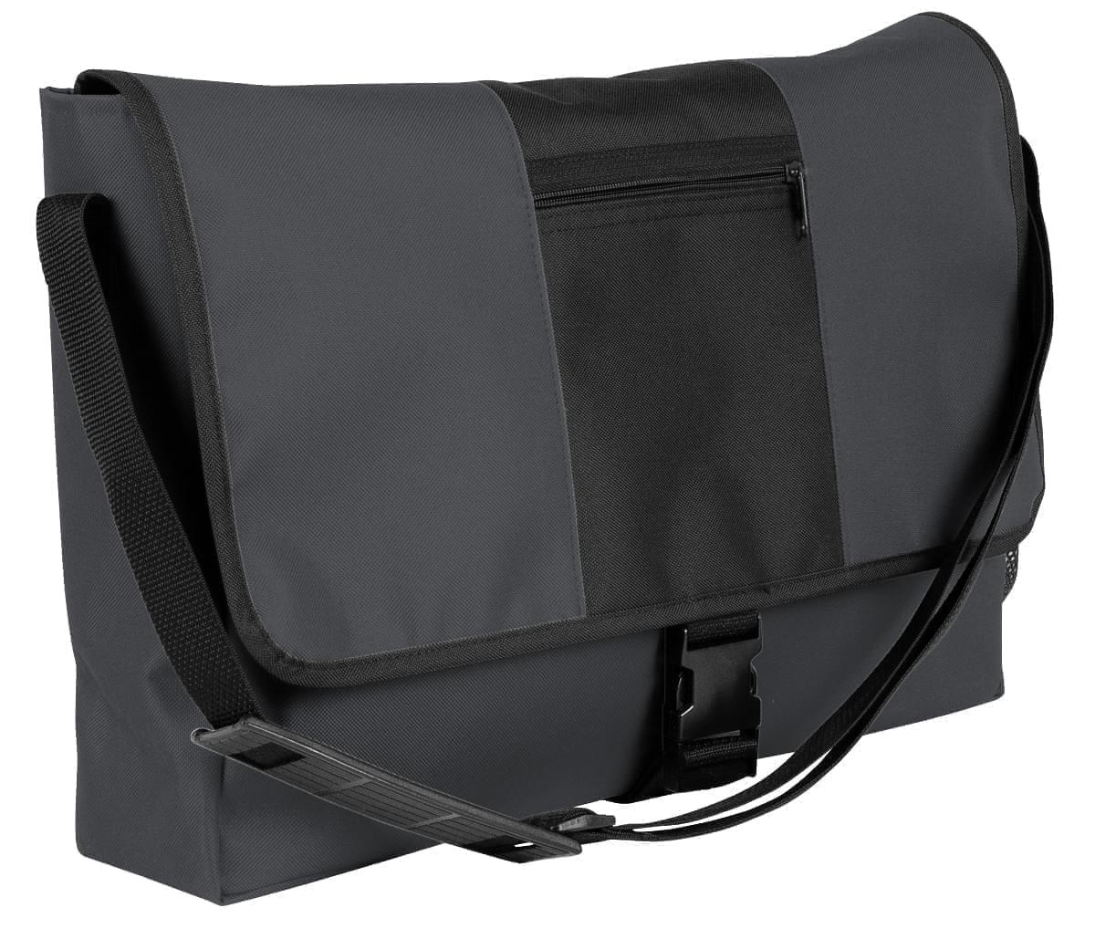 USA Made Nylon Poly Dad Shoulder Bags, Graphite-Black, OHEDA19ARC