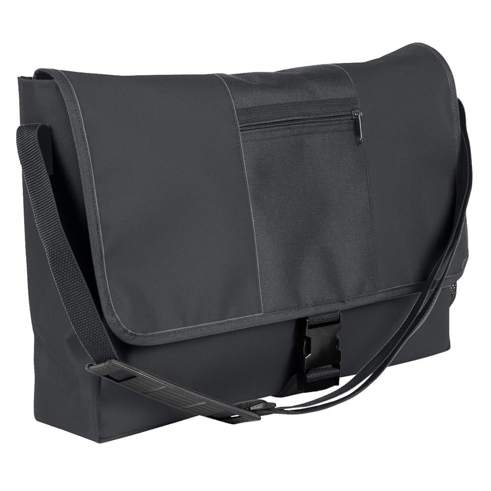 USA Made Nylon Poly Dad Shoulder Bags, Graphite-Graphite, OHEDA19ARF