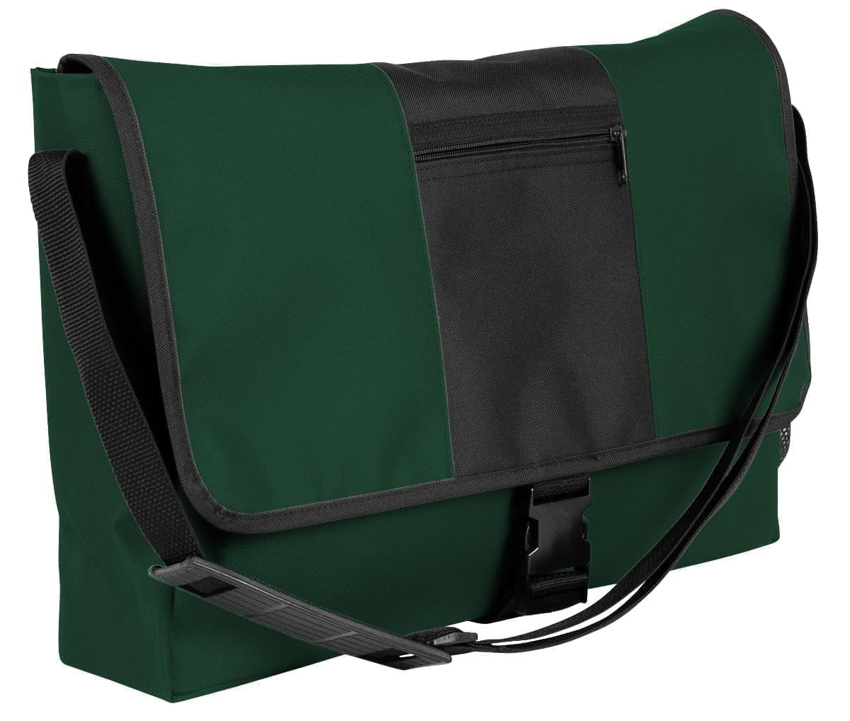 USA Made Nylon Poly Dad Shoulder Bags, Hunter Green-Black, OHEDA19ASC