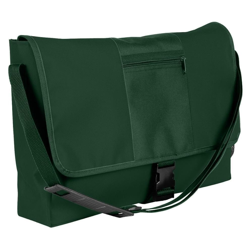 USA Made Nylon Poly Dad Shoulder Bags, Hunter Green-Hunter Green, OHEDA19ASV