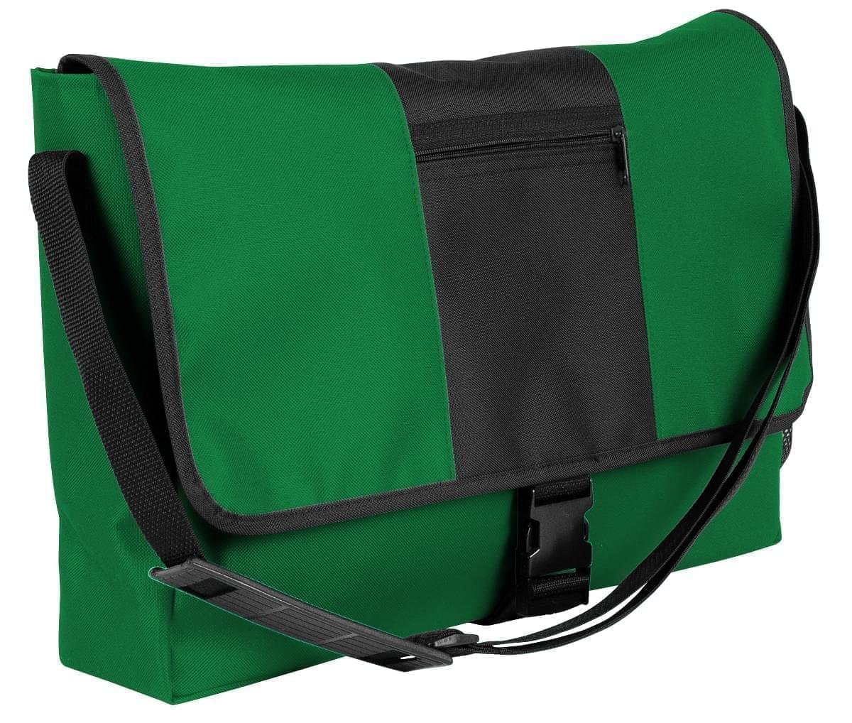 USA Made Nylon Poly Dad Shoulder Bags, Kelly Green-Black, OHEDA19ATC