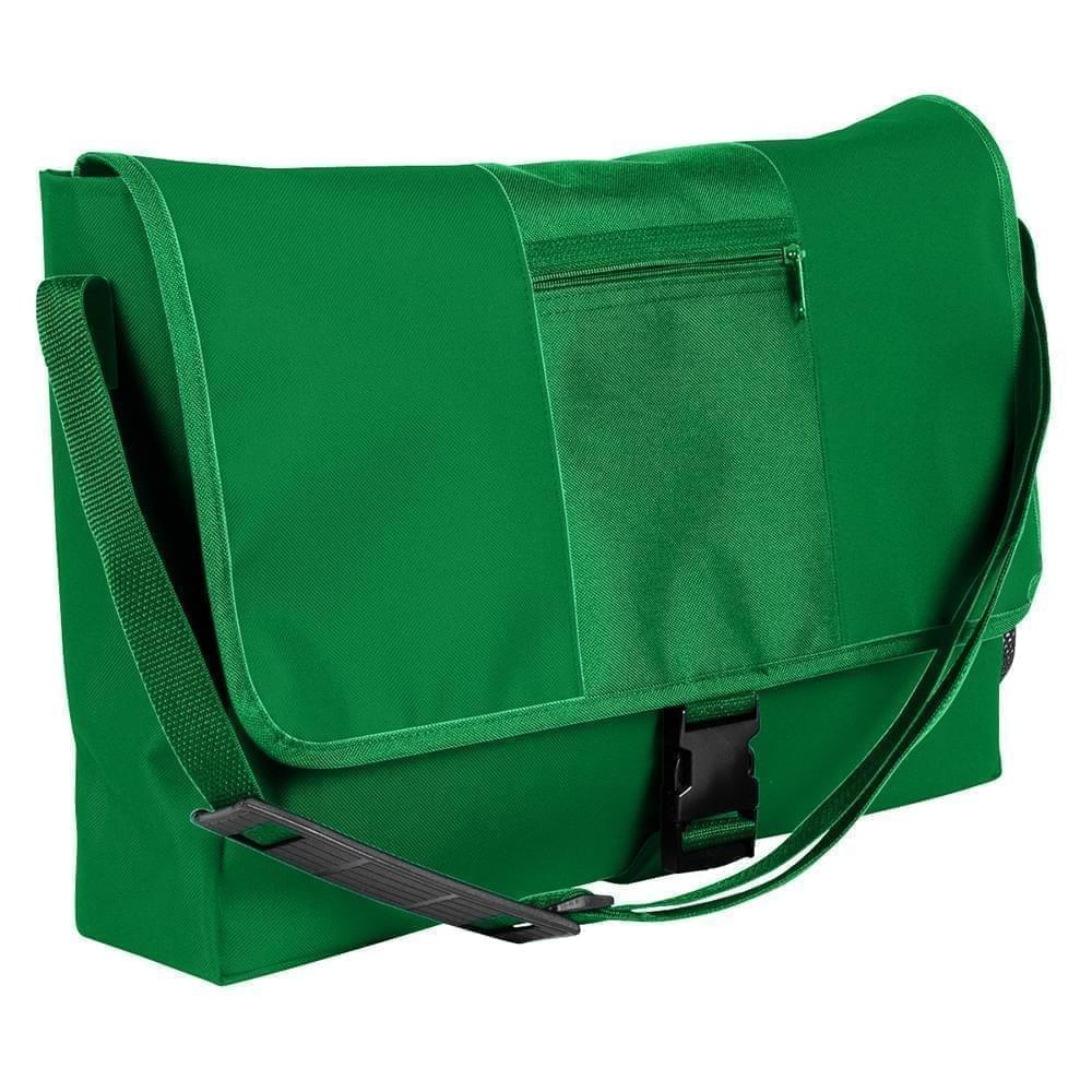 USA Made Nylon Poly Dad Shoulder Bags, Kelly Green-Kelly Green, OHEDA19ATH
