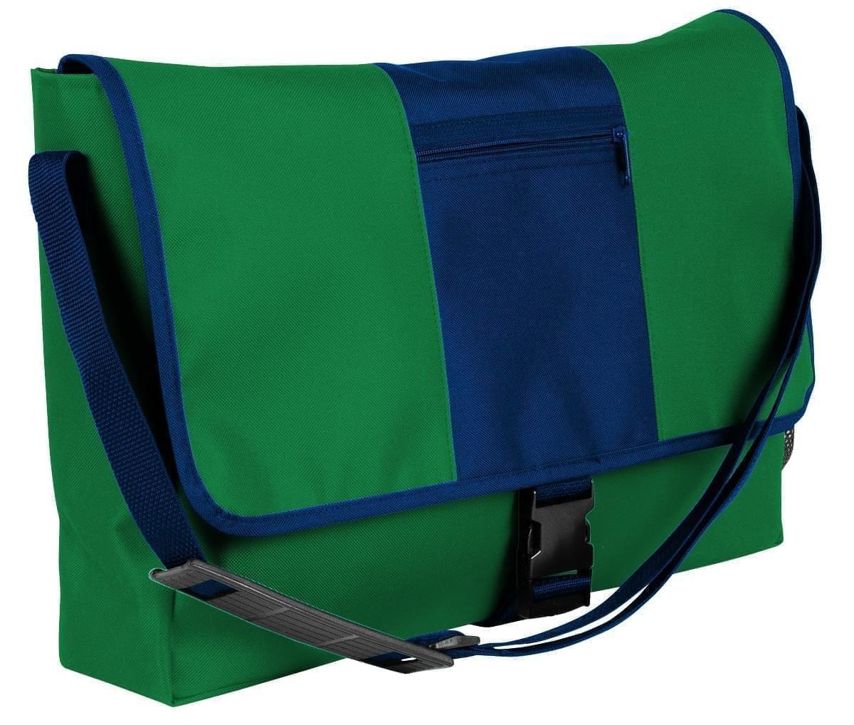 USA Made Nylon Poly Dad Shoulder Bags, Kelly Green-Navy, OHEDA19ATI