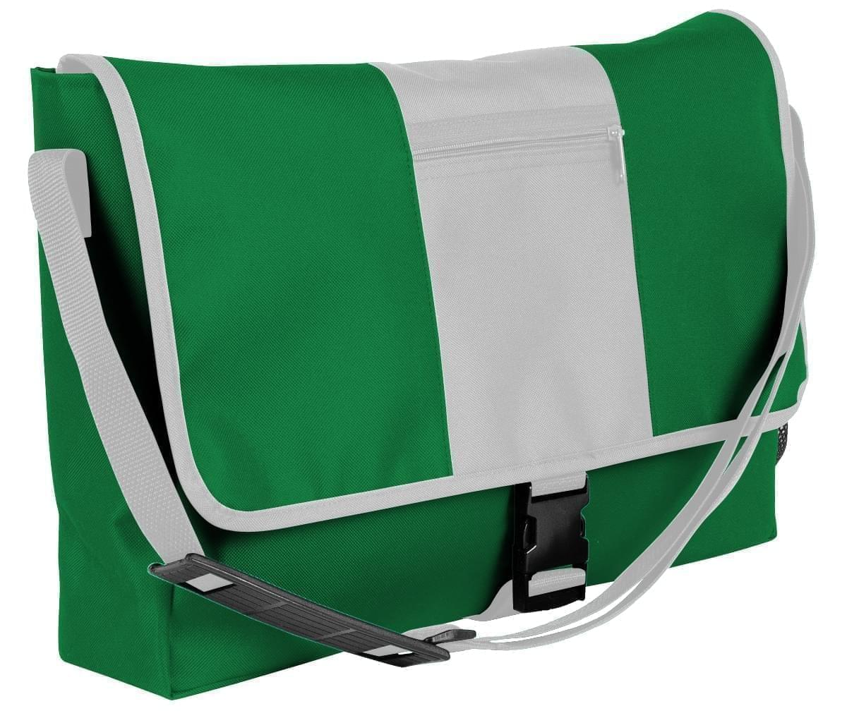 USA Made Nylon Poly Dad Shoulder Bags, Kelly Green-White, OHEDA19ATP