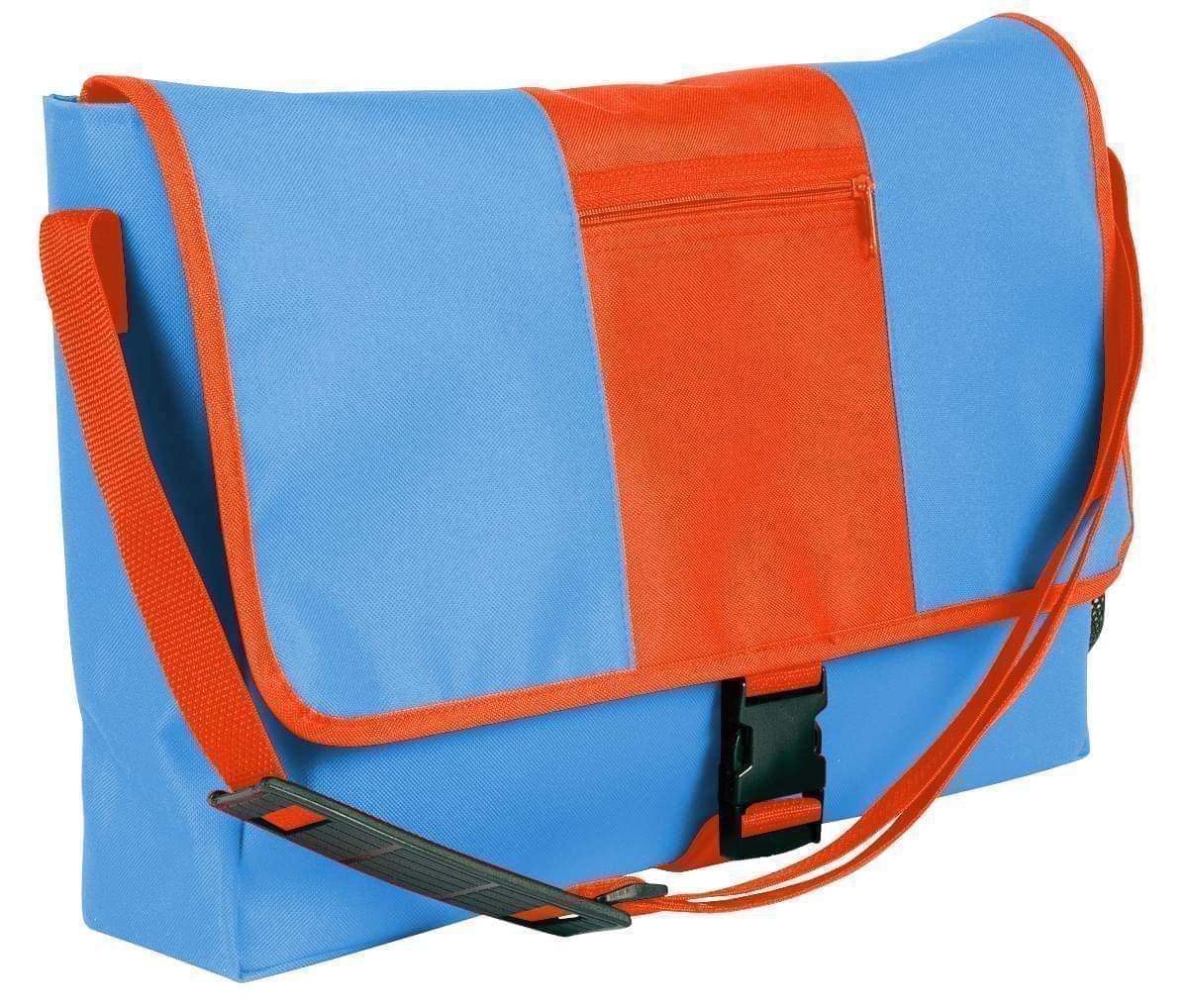 USA Made Nylon Poly Dad Shoulder Bags, Columbia-Orange, OHEDA19AUJ