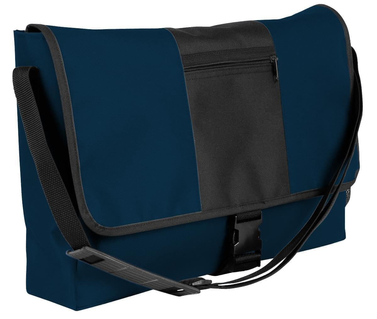 USA Made Nylon Poly Dad Shoulder Bags, Navy-Black, OHEDA19AWC