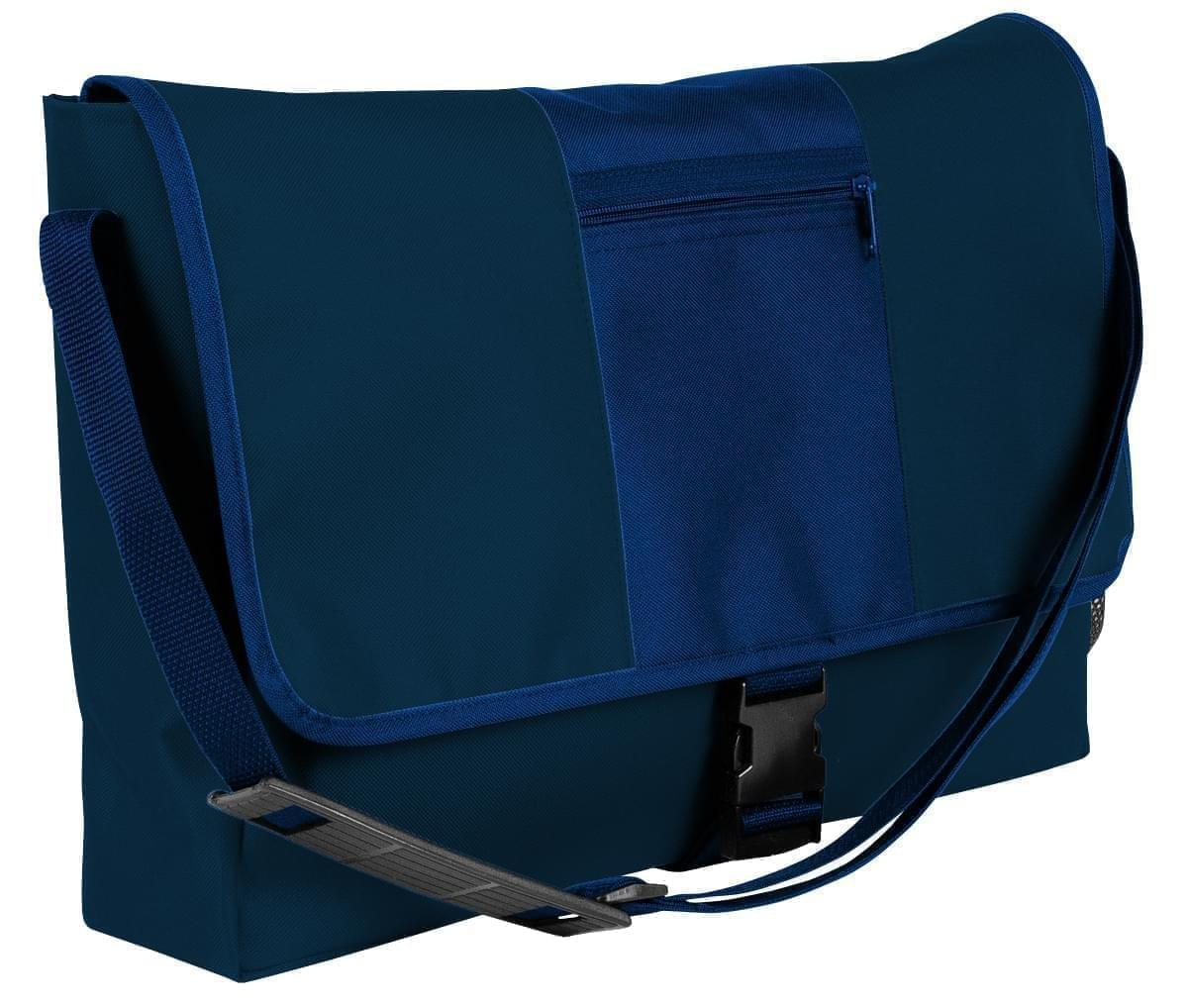 USA Made Nylon Poly Dad Shoulder Bags, Navy-Navy, OHEDA19AWI