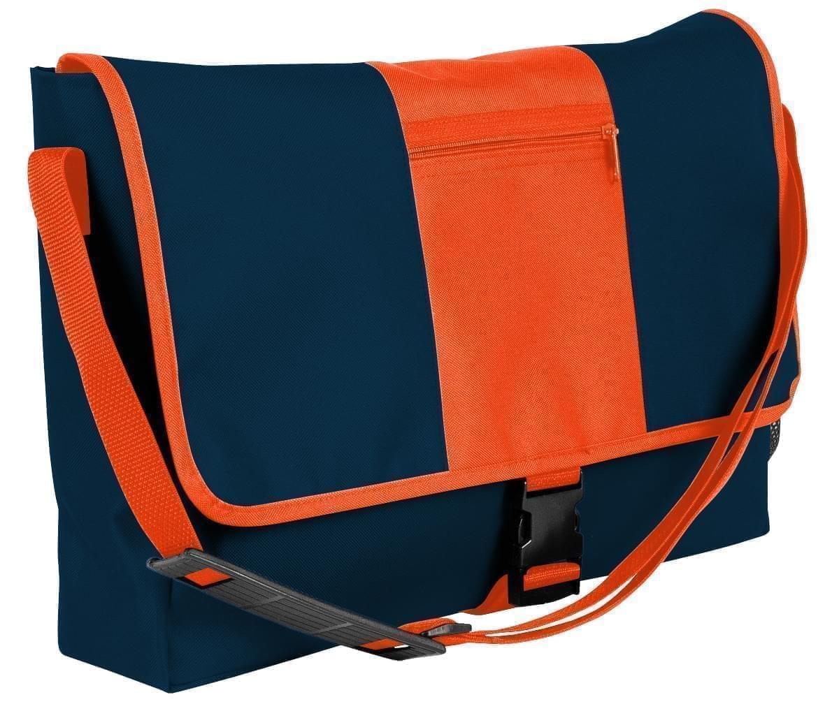 USA Made Nylon Poly Dad Shoulder Bags, Navy-Orange, OHEDA19AWJ