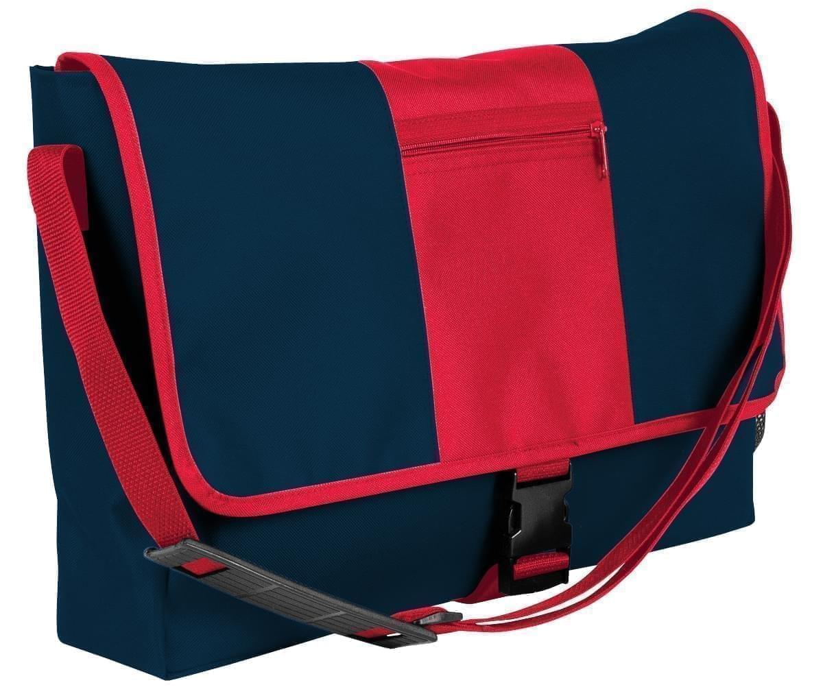 USA Made Nylon Poly Dad Shoulder Bags, Navy-Red, OHEDA19AWL