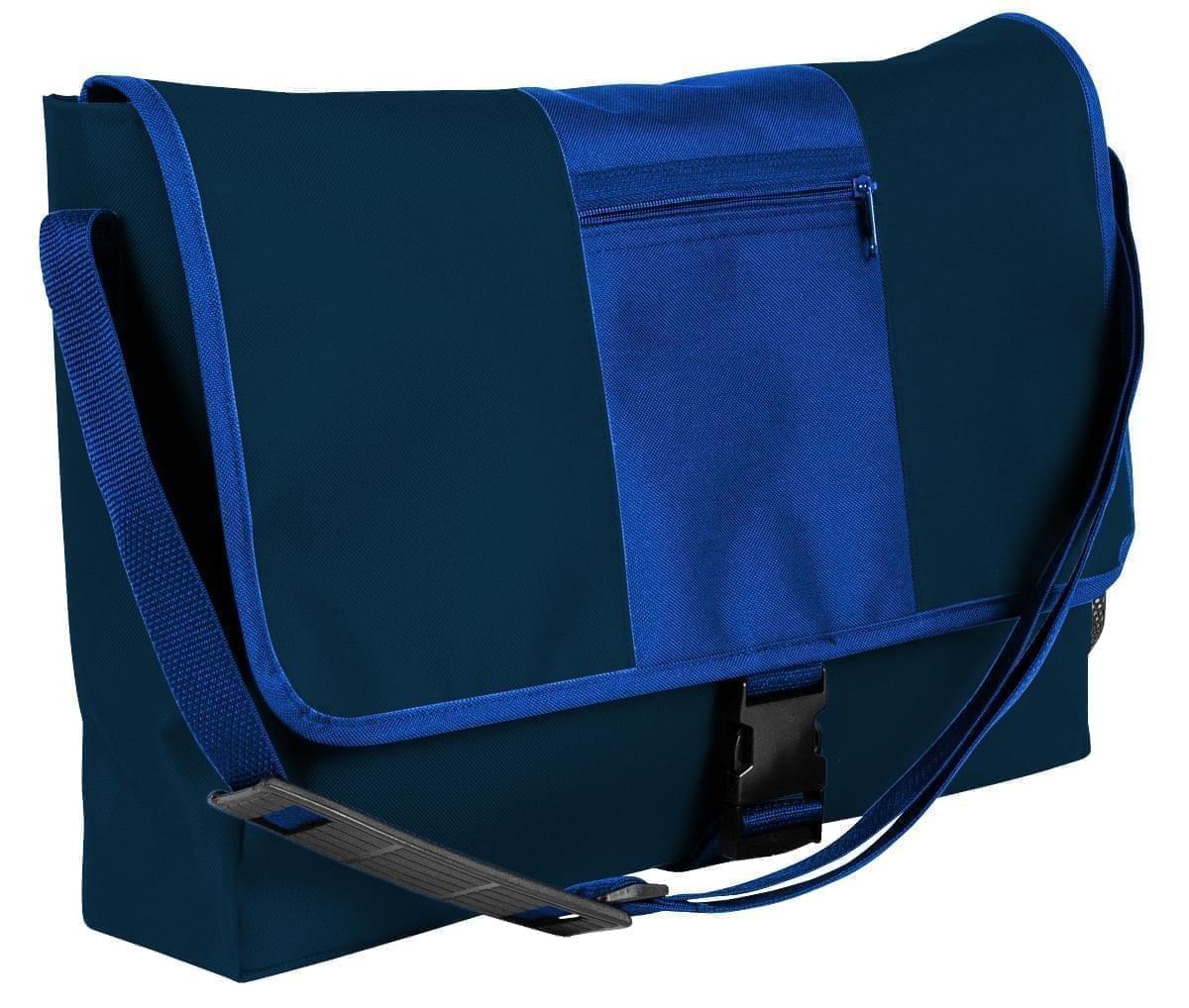 USA Made Nylon Poly Dad Shoulder Bags, Navy-Royal Blue, OHEDA19AWM