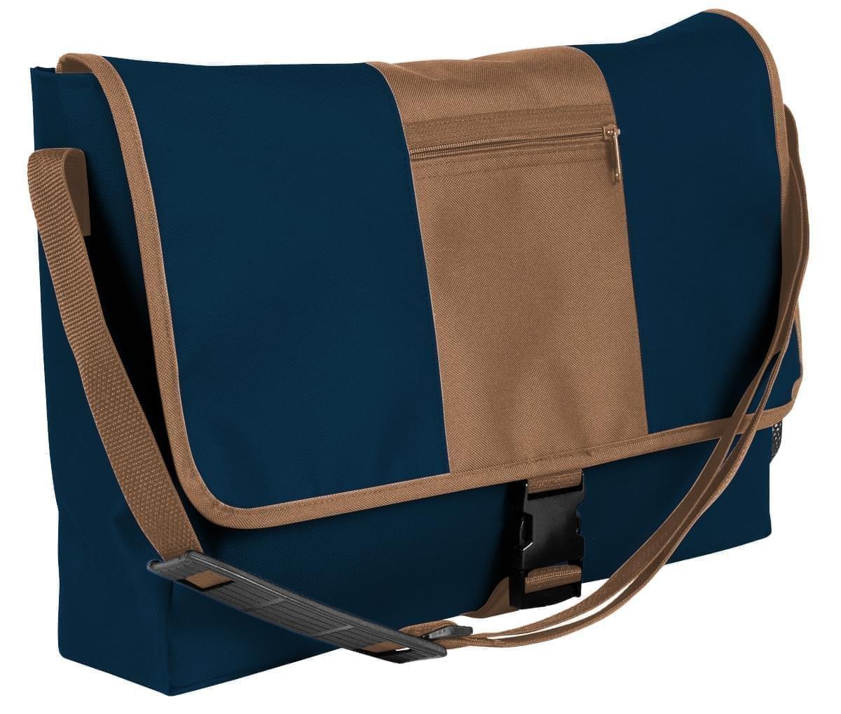 USA Made Nylon Poly Dad Shoulder Bags, Navy-Bronze, OHEDA19AWO