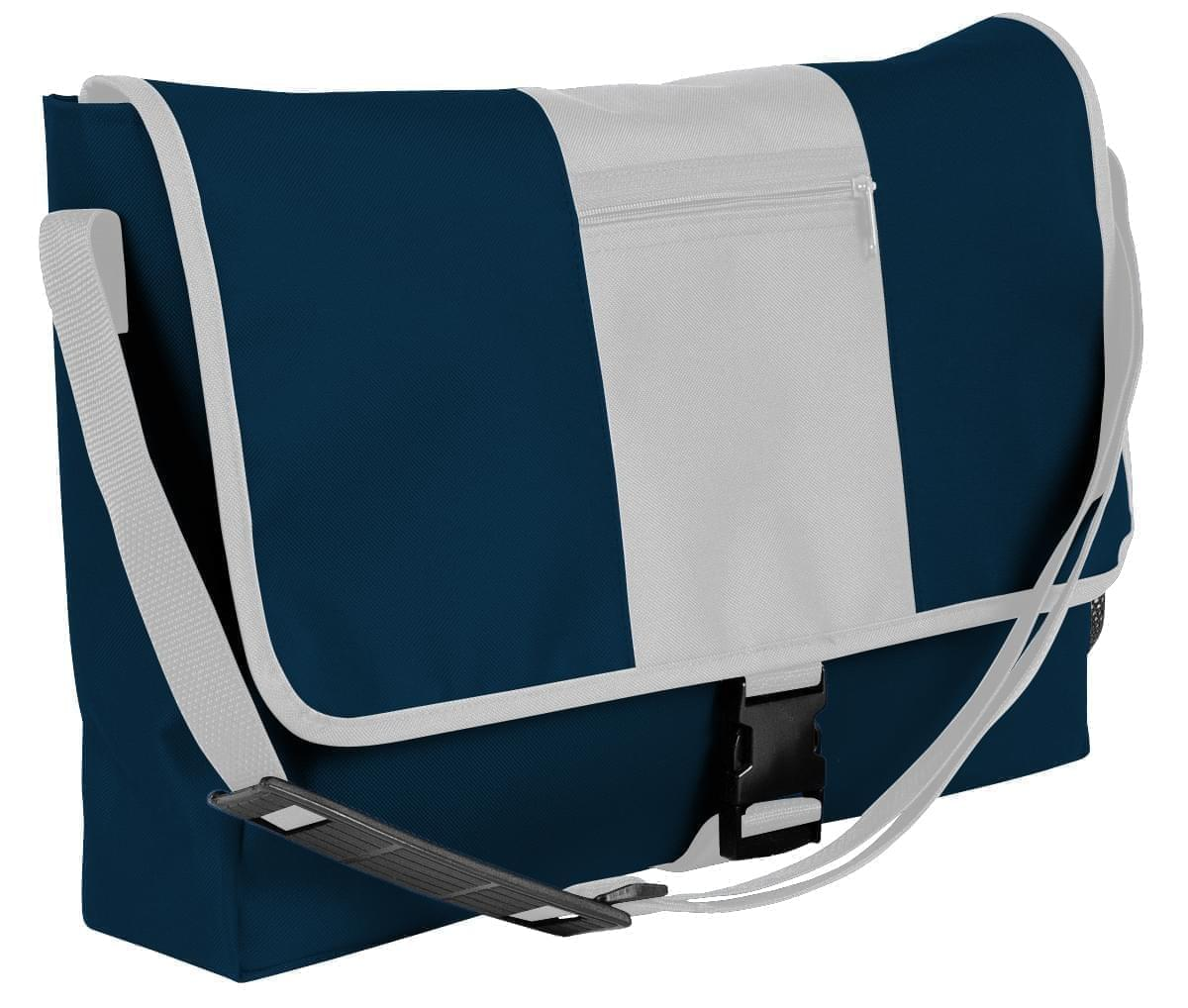 USA Made Nylon Poly Dad Shoulder Bags, Navy-White, OHEDA19AWP