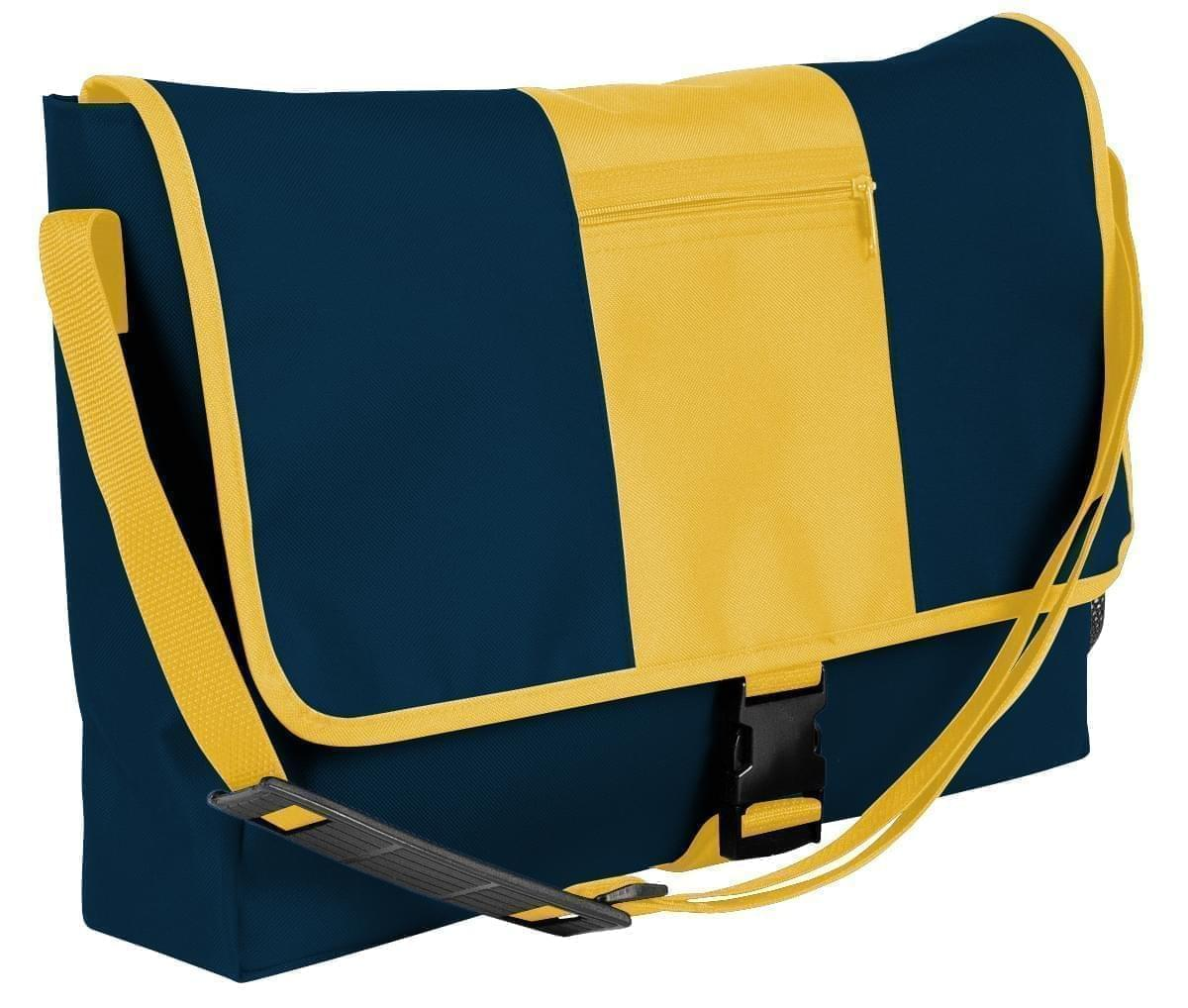 USA Made Nylon Poly Dad Shoulder Bags, Navy-Gold, OHEDA19AWQ