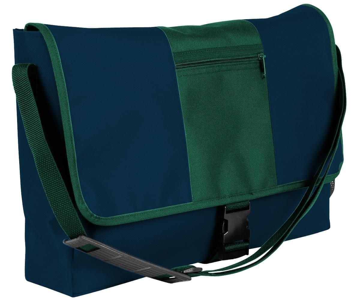 USA Made Nylon Poly Dad Shoulder Bags, Navy-Hunter Green, OHEDA19AWV