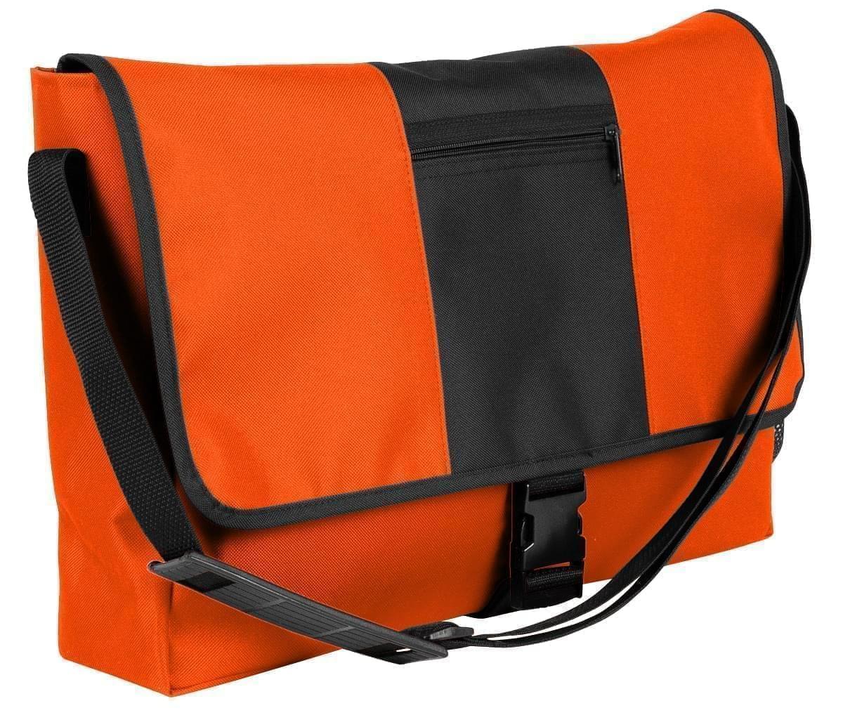 USA Made Nylon Poly Dad Shoulder Bags, Orange-Black, OHEDA19AXC