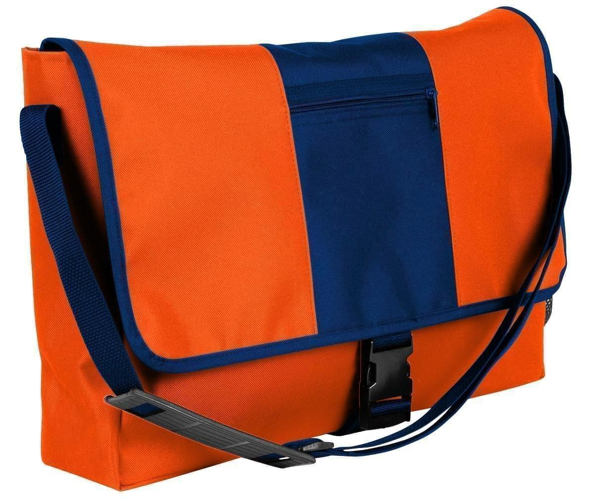 USA Made Nylon Poly Dad Shoulder Bags, Orange-Navy, OHEDA19AXI