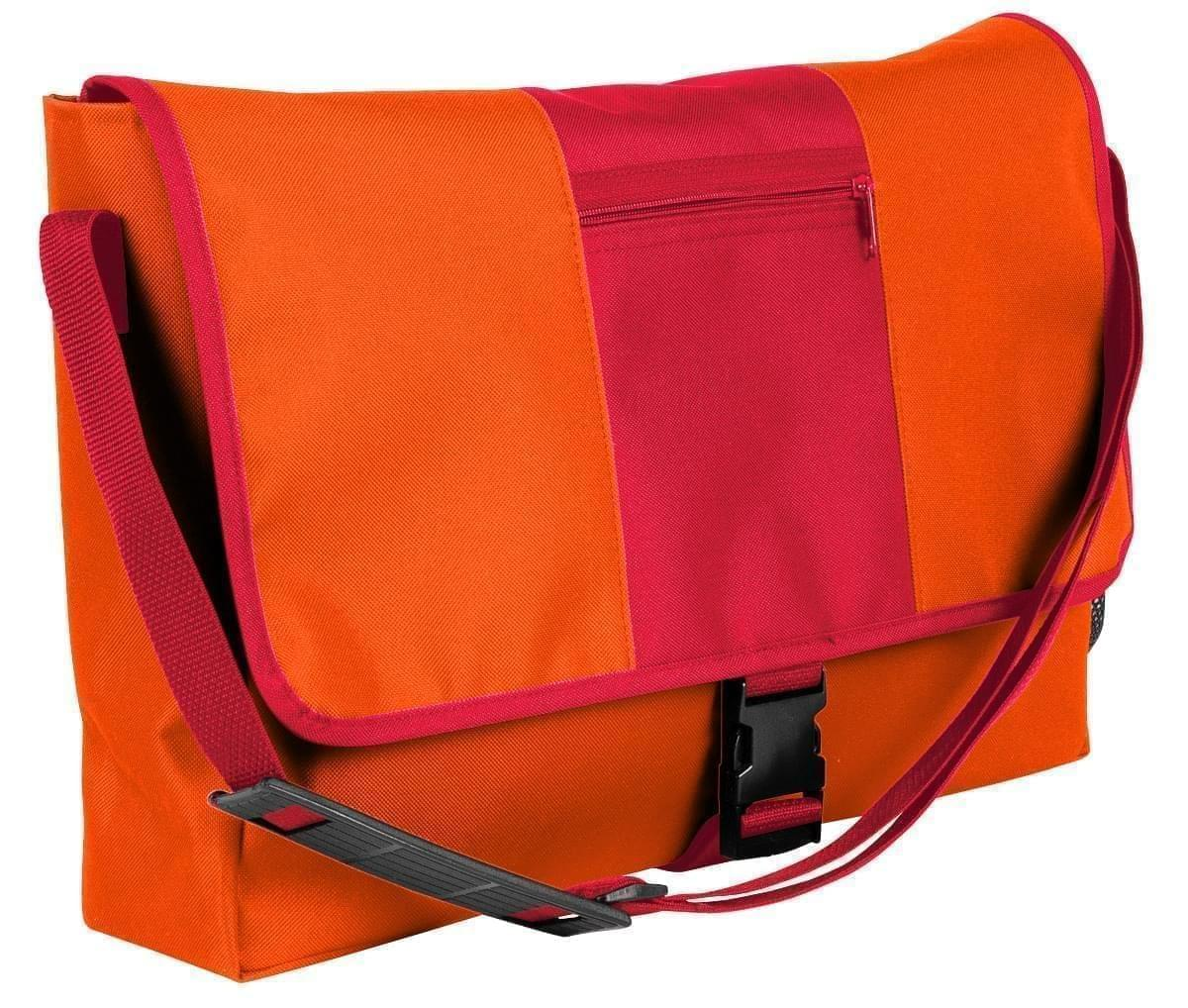 USA Made Nylon Poly Dad Shoulder Bags, Orange-Red, OHEDA19AXL